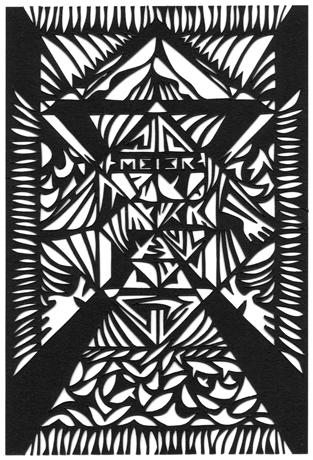 Papercutting, Black paper (SOLD)
