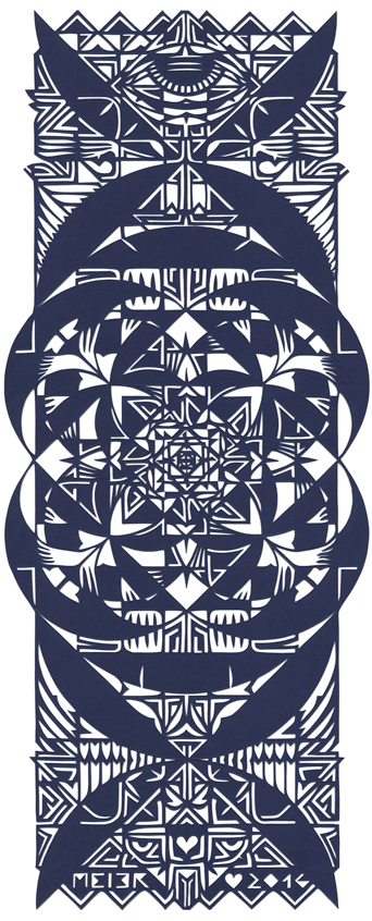 Papercutting, Navy blue Paper